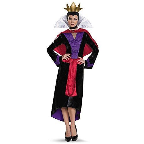 el mal reina traje adulto de lujo de las mujeres disfraz, m