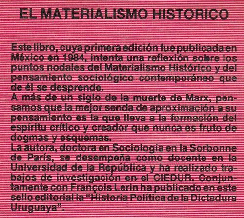 el materialismo historico por cristina torres marxismo 1988