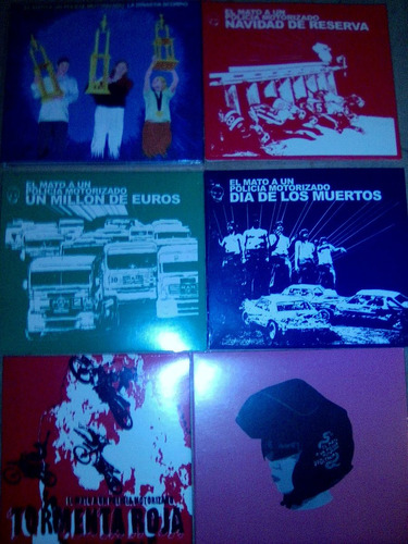 el mato a un policia motorizado - discografia x 6 cds