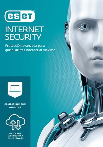 el mejor antivirus eset internet security original 3pc 1año