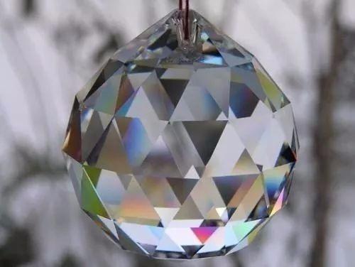 el mejor prisma swarovski 40mm. esfera facetada de feng shui