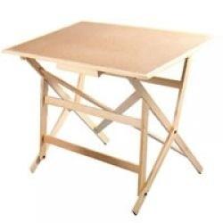 El mejor restirador profesional de madera 60x90 con banco for Restirador de madera