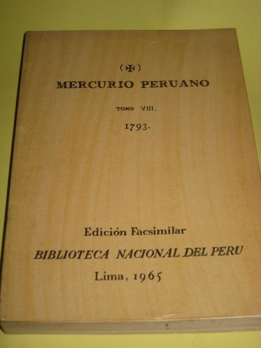 el mercurio peruano tomo 9  faximil