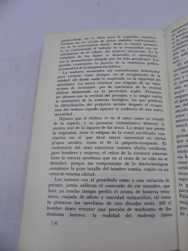 el mito de chile. ariel peralta. 1971