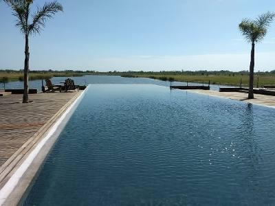 el naudir aguas privadas. casa a construir  en lote interno. oportunidad!