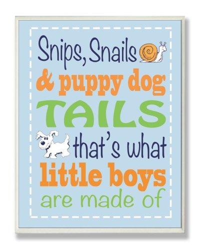 el niños room by stupell snips y snails y puppy perro tails