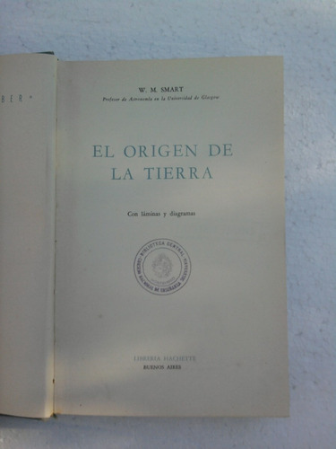 el origen de la tierra ,w. m .smart