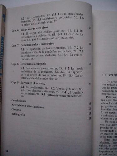 el origen de la vida - lazcano y araujo - edición 1994