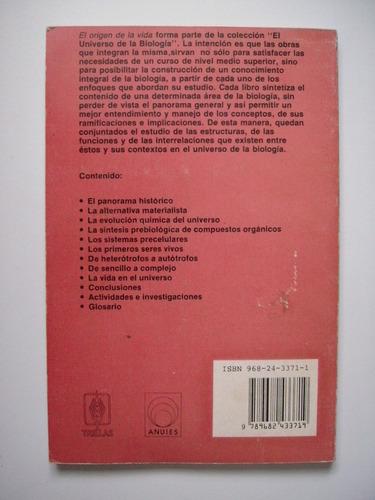 el origen de la vida - lazcano y araujo - edición 1999