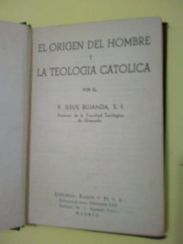 el origen del hombre y la teología católica jesus bujanda