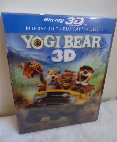 el oso yogi pelicula en blu-ray 3d + blu-ray + dvd