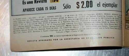 el pájaro loco 437 editorial novaro 1974