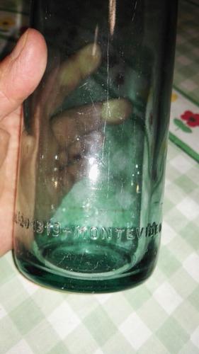 el paraiso botella de vidrio letras en relieve