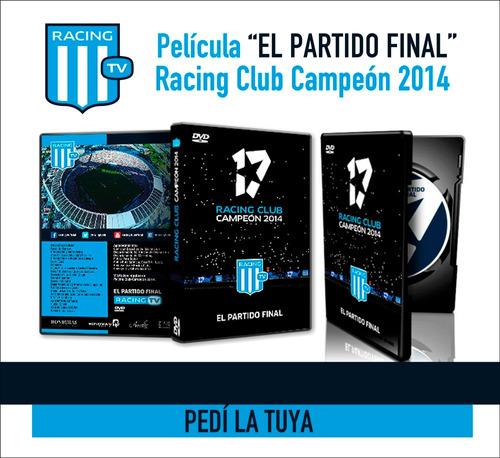 el partido final racing campeón 2014 - dvd