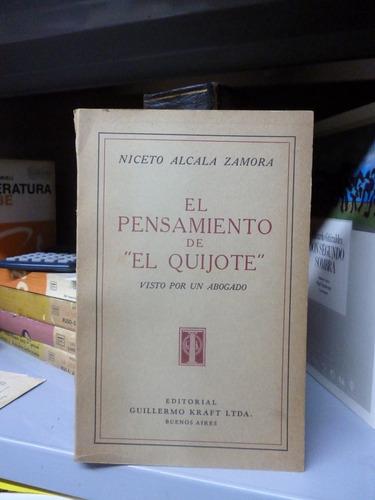el pensamiento de don quijote, n. alcala zamora. (a)
