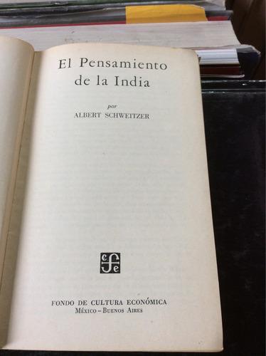 el pensamiento de la india, albert schwaitzer