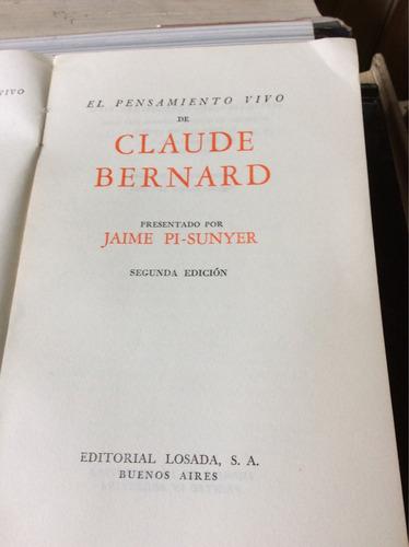 el pensamiento vivo de claude bernard, jaime pi-sunyer