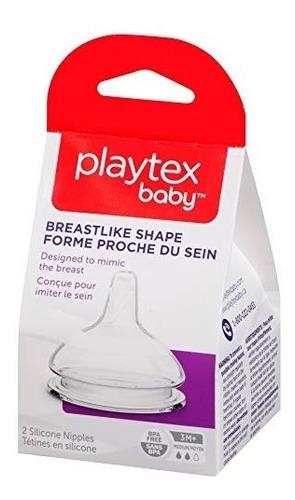 el pezón similar a la mama playtex, flujo medio, 2 conteos