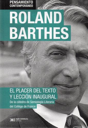 el placer del texto y lección inaugural barthes (sx)