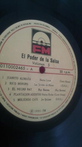 el poder de la salsa vol5/ lp compilado 1990 fm colombia