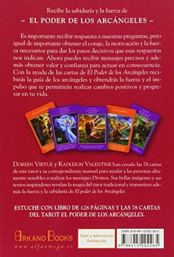 el poder de los arcángeles - tarot de 78 cartas y libro guía