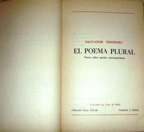 el poema plural: notas sobre poesia contemporanea....