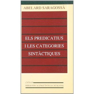 el predicatiu i les categories sintàctiques (bi envío gratis