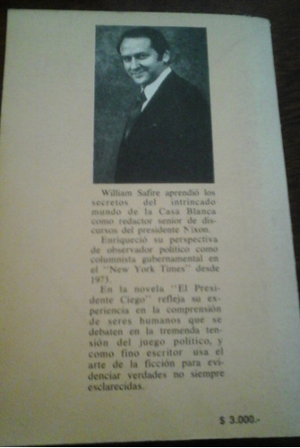 el presidente ciego - william safire. ed. atlantida