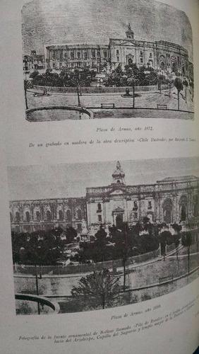 el primer monumento de bolívar. plaza de armas chile 1952