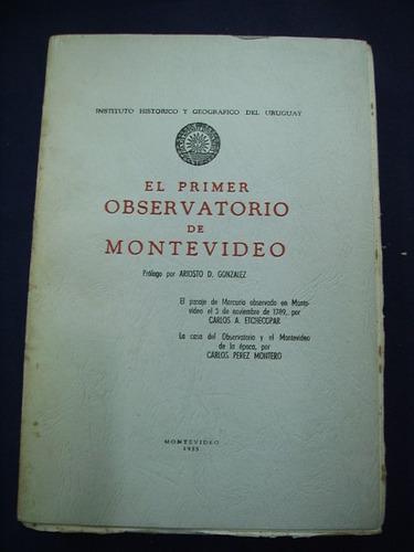 el primer observatorio de montevideo - carlos a. etchecopar