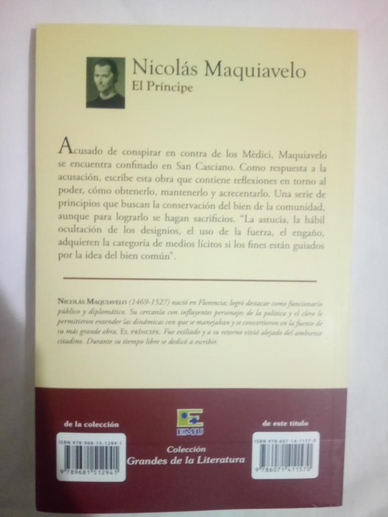267a420e5fae9 El Príncipe De Nicolás Maquiavelo Libro Original Usado -   70.00 en ...