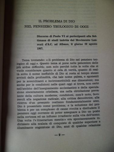el problema teologico oggi l.e.redenzione napoli 1968