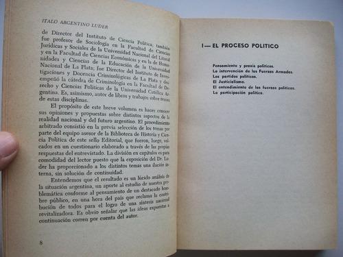 el proceso argentino - italo argentino luder - peronismo