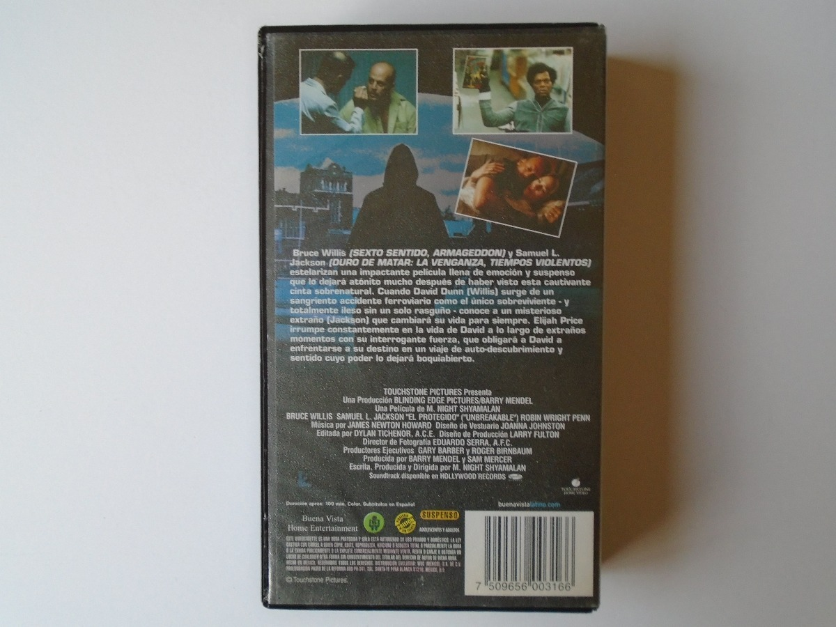 El Protegido Vhs Buena Vista Home Entertaiment Bruce Willis