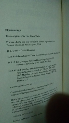 El Punto Ciego   Psicolog U00eda Del Autoenga U00f1o  Daniel Goleman