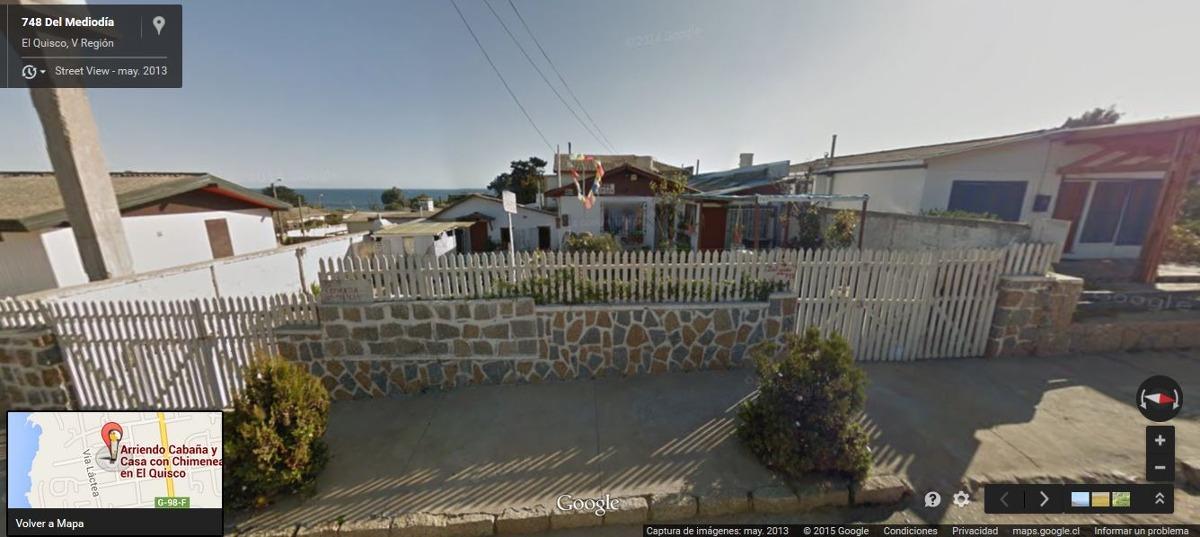 el quisco arriendo cabaña para 4 personas a 3 cuadras playa