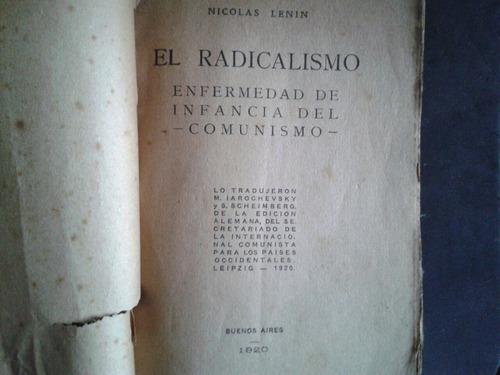 el radicalismo lenin enfermedad de infancia del comunismo