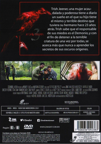 el regreso del demonio jeepers creepers 3 pelicula dvd