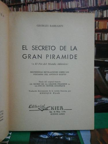 el secreto de la piramide, georges barbarin, esoterismo.