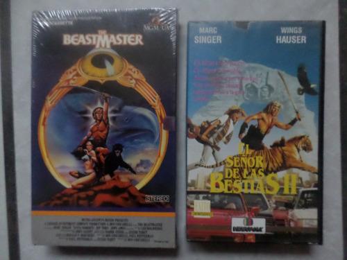 el señor de las bestias-beast master 1 y 2 en vhs vintage