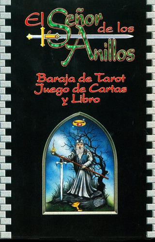 el señor de los anillos cartas de tarot - 78 cartas y libro