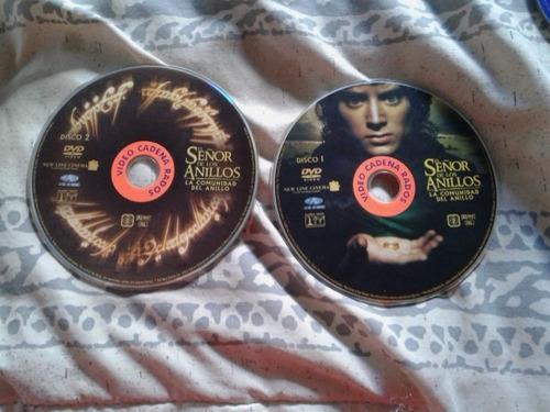 el señor de los anillos- la comunidad del anillo- 2 dvd's