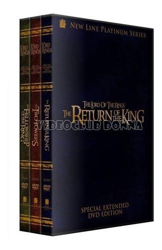 el señor de los anillos saga completa coleccion 3 dvd latino