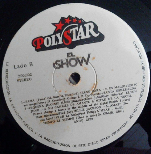 el show - contiene maría conchita  a´mbar - lp disco vinil