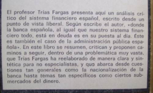 el sistema financiero español trias fargas ed. ariel españa