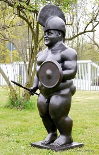 el soldado romano escultura en bronce botero