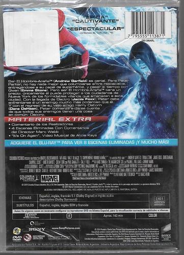 el sorprendente hombre araña 2 la amenaza de electro dvd