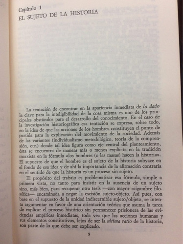 el sujeto de la historia - carlos pereyra - ed. alianza