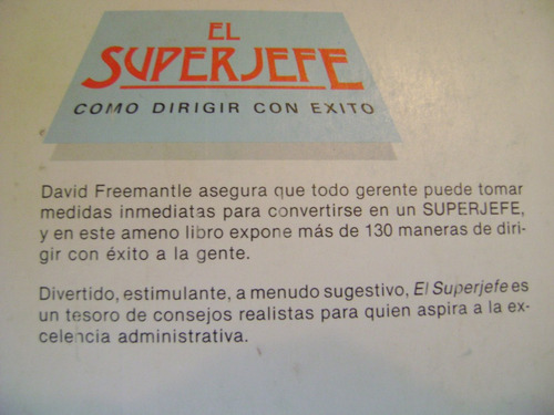 el super jefe. david freemantle. $239 dhl