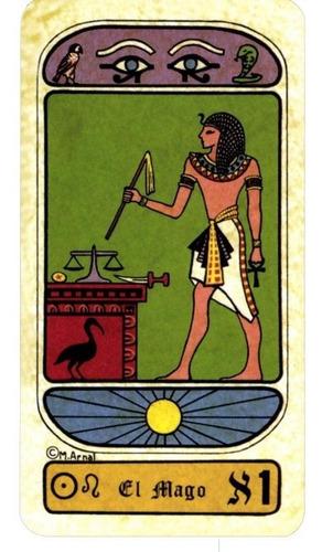 el tarot egipcio, margarita arnal, libro y baraja